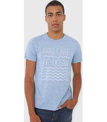 camiseta malwee lettering azul - azul - masculino - poliã©ster - dafiti