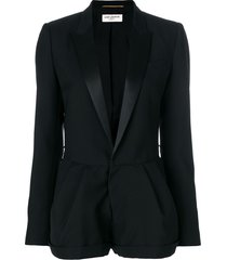 saint laurent tailored fitted playsuit - black
