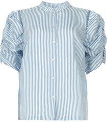 gestreepte blouse taciana  blauw