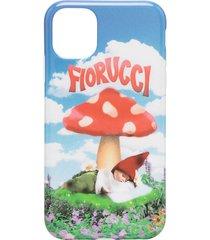 fiorucci mushroom iphone 11 case - blue