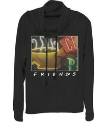 fifth sun friends framed central perk coffee sign cowl neck women's pullover fleece