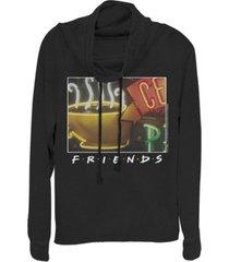 fifth sun friends framed central perk coffee sign cowl neck juniors pullover fleece