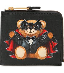 moschino bat teddy bear wallet