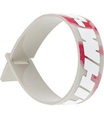 off-white industrial rubber bracelet - multicolour