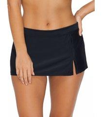 island escape sahara solids swim skirt, created for macy's women's swimsuit