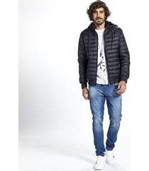 jaqueta puffer nylon masculina capuz