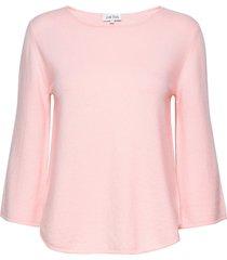 quarter wide sleeve sweater gebreide trui roze davida cashmere
