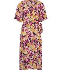 dress rutan knälång klänning multi/mönstrad lindex