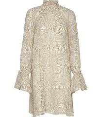delicate shift dress jurk knielengte crème by ti mo