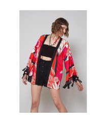 kimono oh, boy! est floral vulcanico feminino