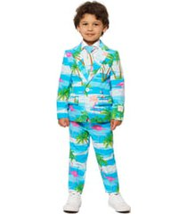 boy's opposuits flaminguy two-piece suit with tie (toddler, little boy & big boy)
