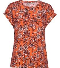 frjeseen 1 t-shirt t-shirts & tops short-sleeved orange fransa