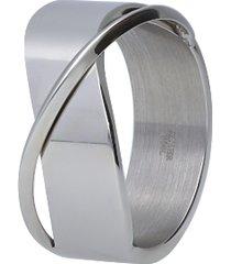 anello acciaio a fasce per donna