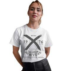 camiseta basica my t-shirt bronx fashion new york branca