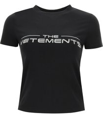 vetements t-shirt with reflective logo
