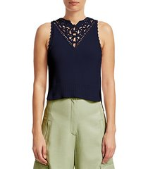 macramé detail sleeveless top