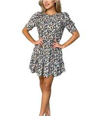 ax paris floral print smock dress