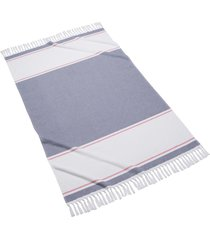 kassatex glendale colorblock fringed beach towel