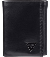 guess cruz trifold leather wallet