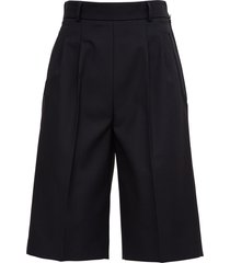maison margiela black wool blend bermuda shorts