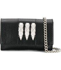 philipp plein skull charm shoulder bag - black