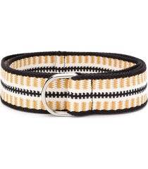 isabel marant abstract-woven belt - yellow