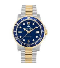 tommy bahama men's naples cove diver multi stainless steel bracelet watch, 45mm