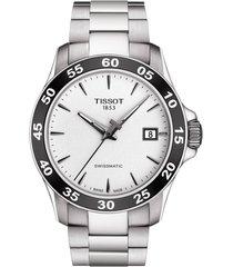 men's tissot v8 swissmatic bracelet watch, 42mm