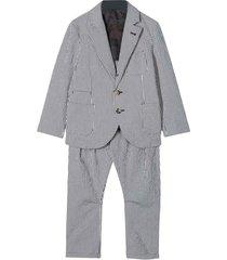 brunello cucinelli two-pieces striped suit