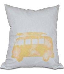 beachdrive 16 inch yellow decorative nautical throw pillow