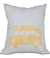 beachdrive 16 inch yellow decorative nautical throw pillow