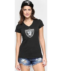 camiseta new era nfl babby look oakland raiders feminina
