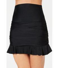 island escape ruffled swim skirt, created for macy's women's swimsuit