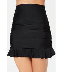 island escape ruffled swim skirt, created for macy's women's swimsuit