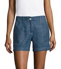 knit denim shorts