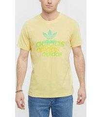 adidas originals shattered logo t-shirts & linnen gul