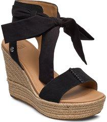 w wittley sandalette med klack espadrilles svart ugg