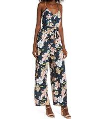 women's chelsea28 floral wide leg jumpsuit