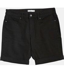 denim stretch shorts - svart