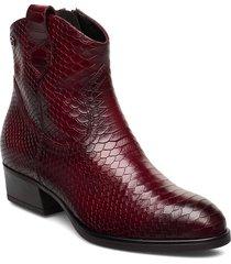 woms boots shoes boots ankle boots ankle boots with heel röd tamaris