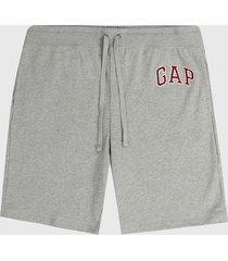 pantaloneta gris-rojo gap