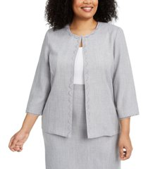 alfred dunner plus size primrose garden jacket