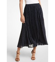 mk gonna in georgette a pois - mdntbl/wht - michael kors