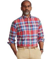 polo ralph lauren men's classic-fit tattersall oxford shirt