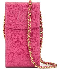 chanel pre-owned cc chain crossbody bag - pink