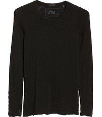 women's atm anthony thomas melillo destroyed wash tee, size x-large - black