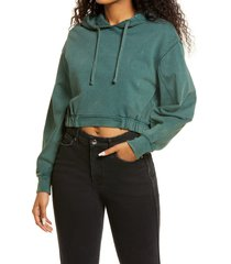 women's bp. crop french terry hoodie, size x-large - green