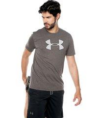 camiseta gris-blanco under armour charcoal medium heather