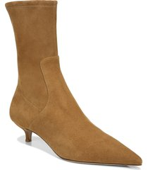 women's veronica beard fiana pointed toe bootie, size 8 m - brown