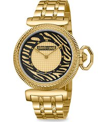 champagne dial animal print watch